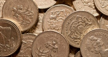 Pile of pound coins