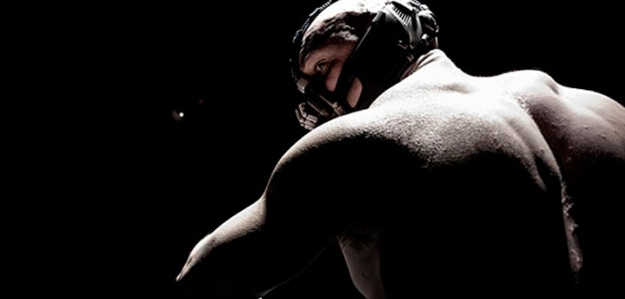 Tom hardy bane dark knight rises back