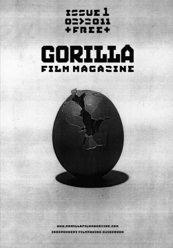 Gorilla film magazine issue 1 cover egg cracking open