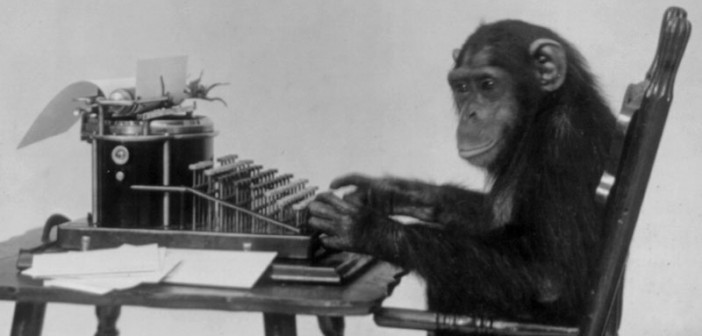 Monkey-at-a-typewriter