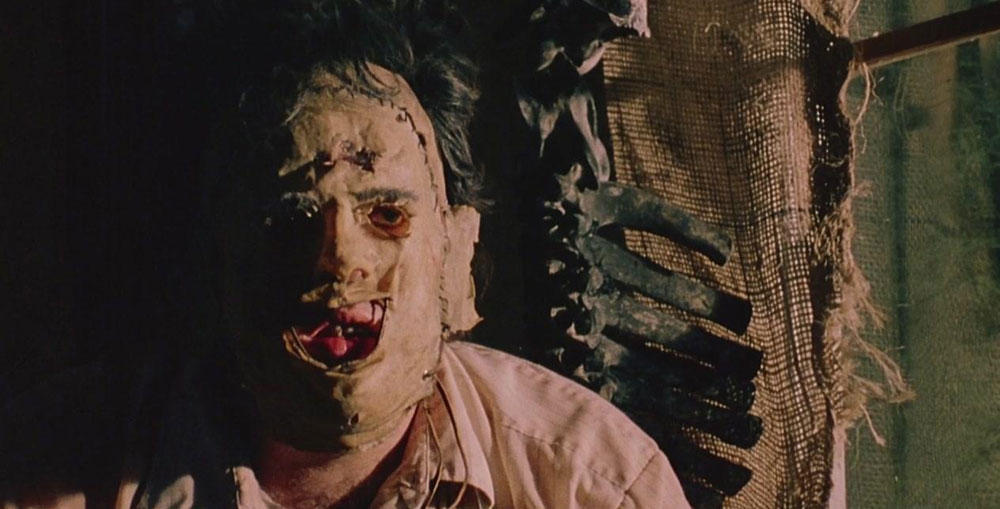 the texas chain saw massacre leather face close up