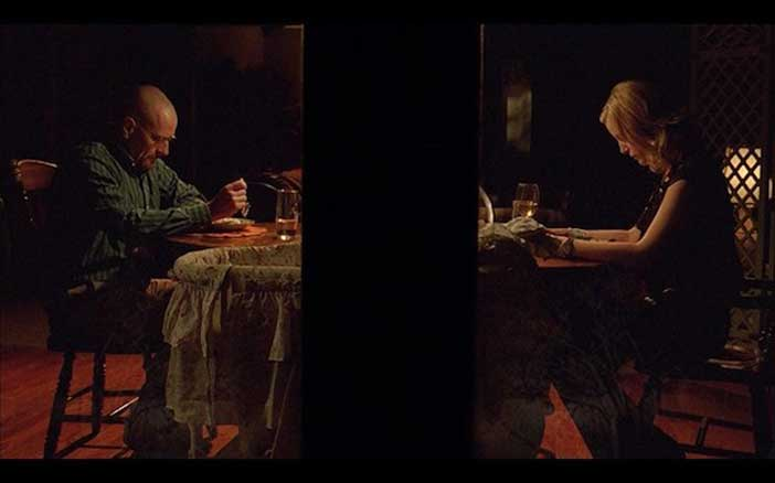 "Now let's compare this to the cinematography of the ""conflict"" dinner in Breaking bad."