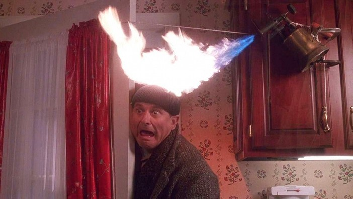 Home Alone blowtorch