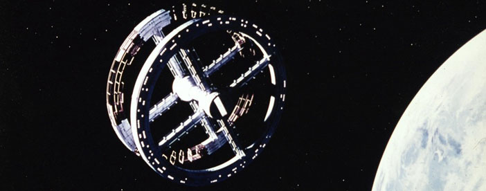 2001 A Space Odyssey spinning space station