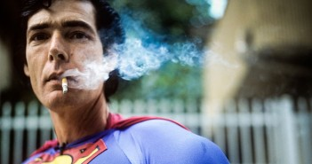 Superman short film Christopher Dennis as superman smoking
