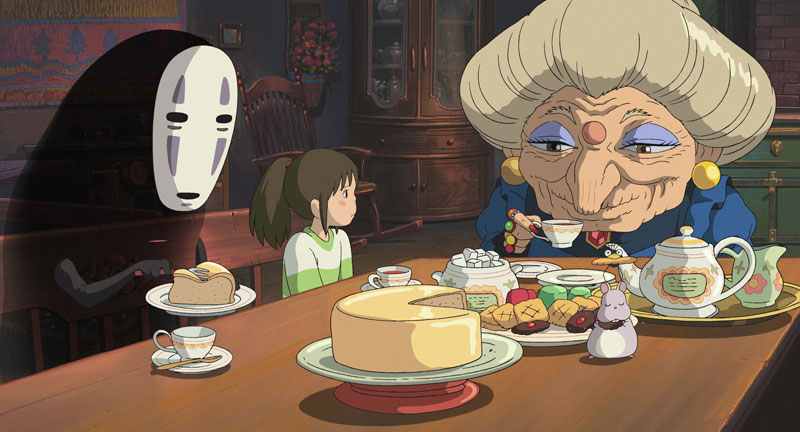Spirited away old lady no face eating