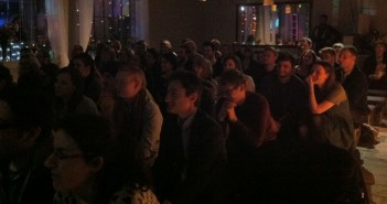 Kino london short film night crowd watching film