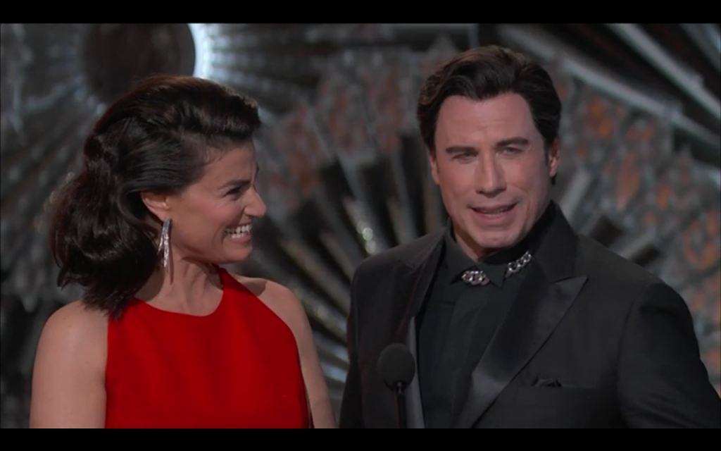 John Travolta OScar 2015 what a mess