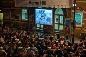 Herne hill station outdoor cinema for free film festival