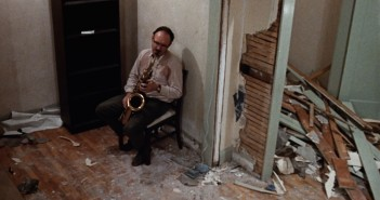 Gene Hackman playing saxophone in The Conversation