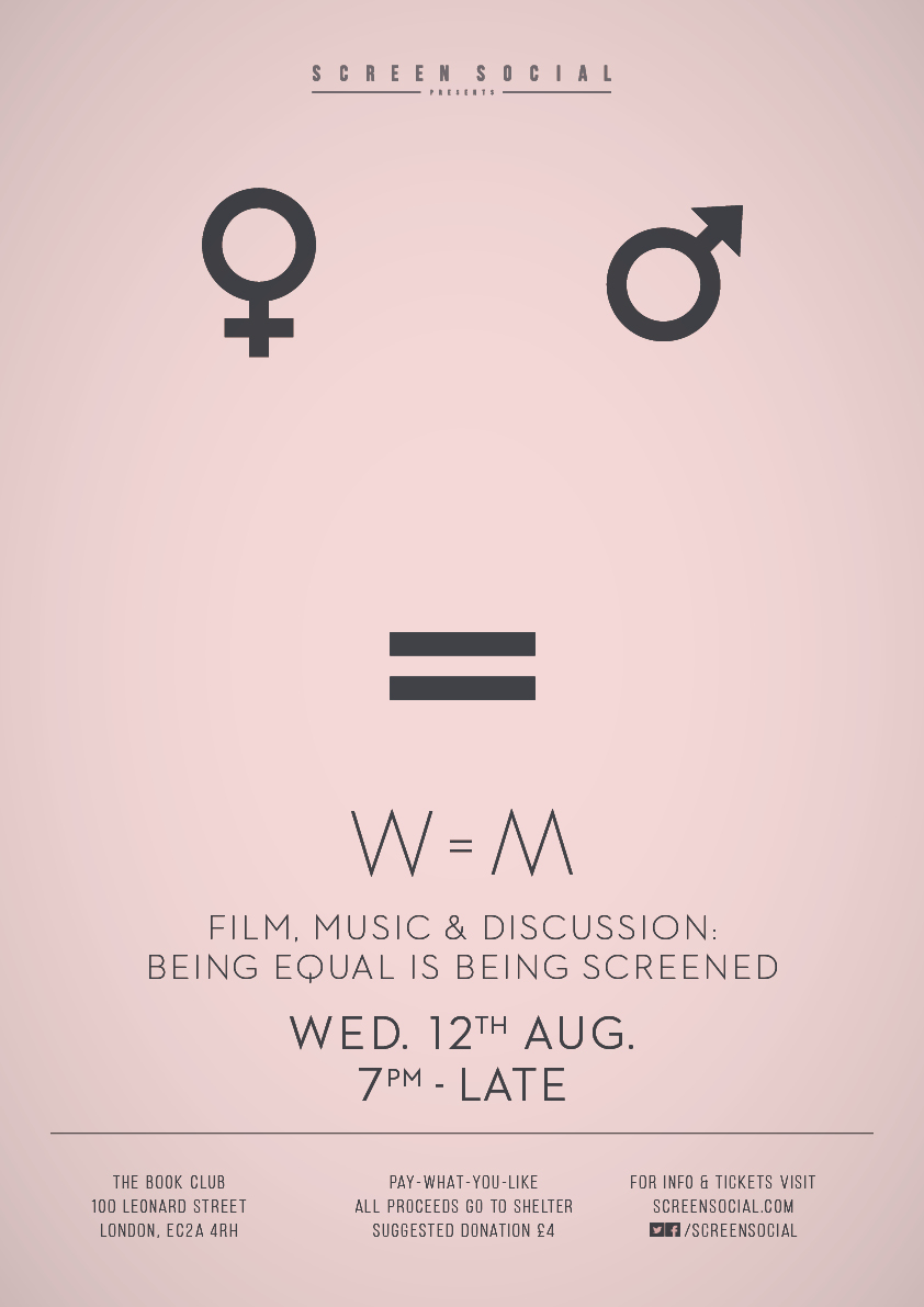 Screen Social W and M Gender Equality in Film August