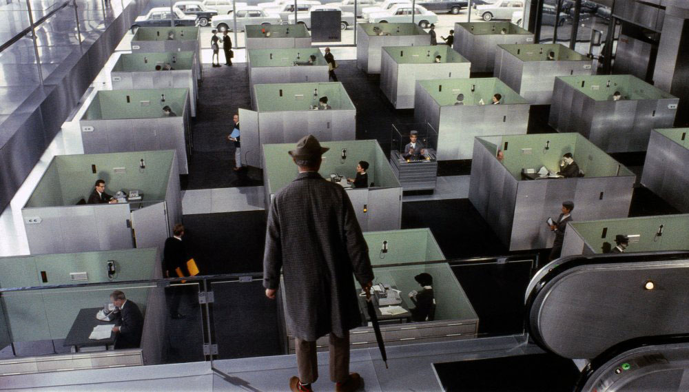 Jacques Tati's Playtime 1967 Office cubicles
