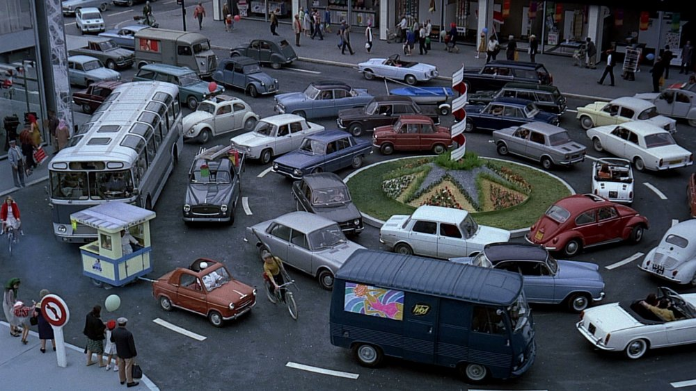 Jacques Tati Play Time 1967 traffic jam